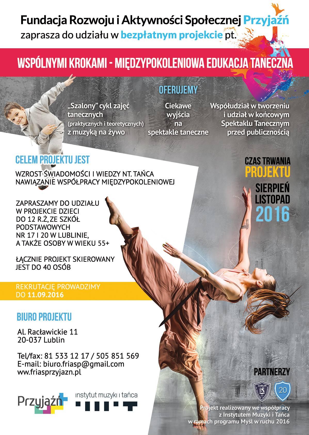 Plakat taniec 2016